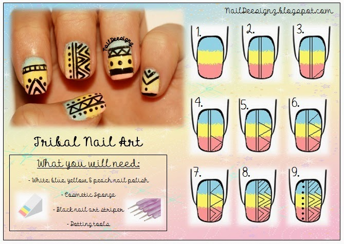 http://naildeesignz.blogspot.co.uk/2014/05/tribal-nail-art.html