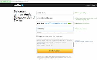 Cara Daftar Akun Twitter Indonesia +Pic
