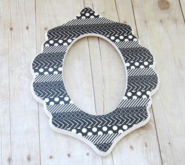 #diy #decorated #frame #cutitout