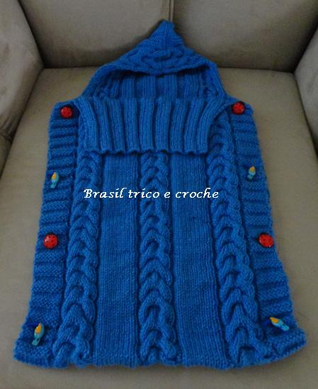 Brasil tric croch handmade porta beb saco de tric - Sacos para portabebes ...