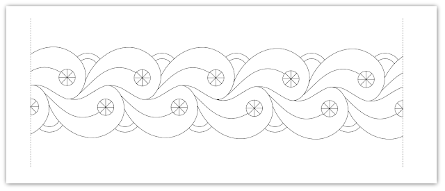 border flow free hand embroidery pattern