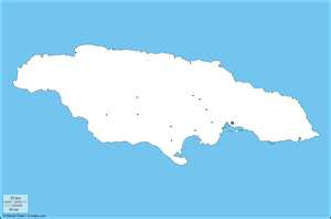 mapa mudo de Jamaica