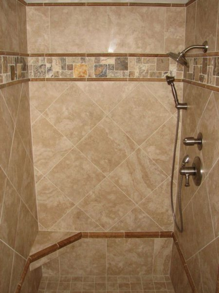 Interior design tips bathroom shower design ideas custom for Glass tile bathroom designs