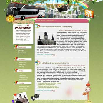 Refreshing New Orleans blogger template. converted WordPress to Blogger template. template travel for blog