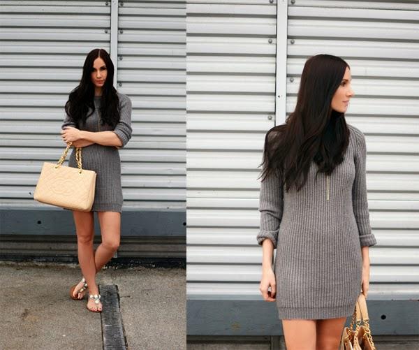 Grey_Wool_Dress_Acne_Dress_Chanel_GST_Fall_Fashion