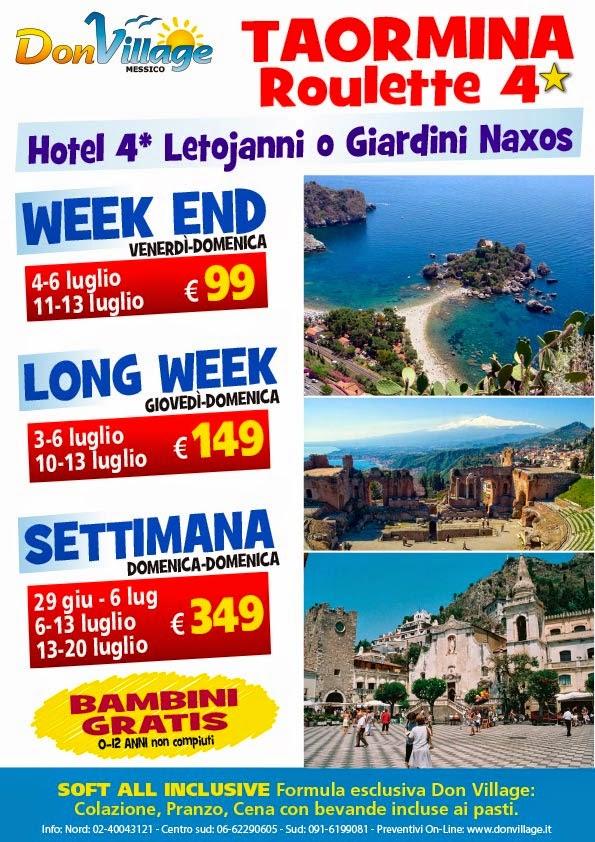 Super Offerta Taormina 4* Formula Roulette!! | Offerte viaggi ...