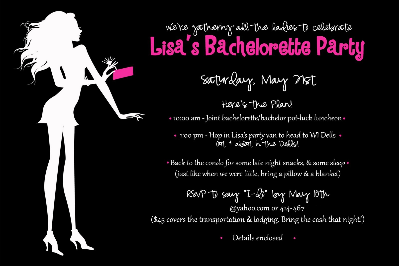 Project Celebration Sexy Silhouette Bachelorette Party Invitation – Bachelorette Party Invitation Templates