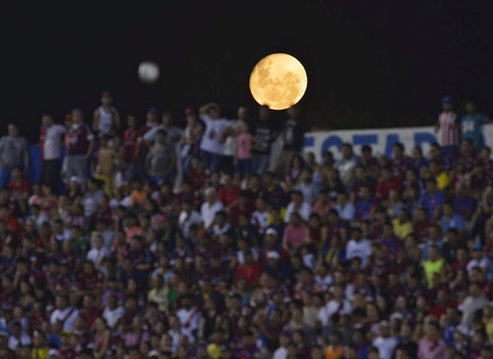 Full moon over Cluj's stadium