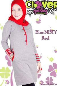 Clover Clothing Blus Misty - Red (Toko Jilbab dan Busana Muslimah Terbaru)