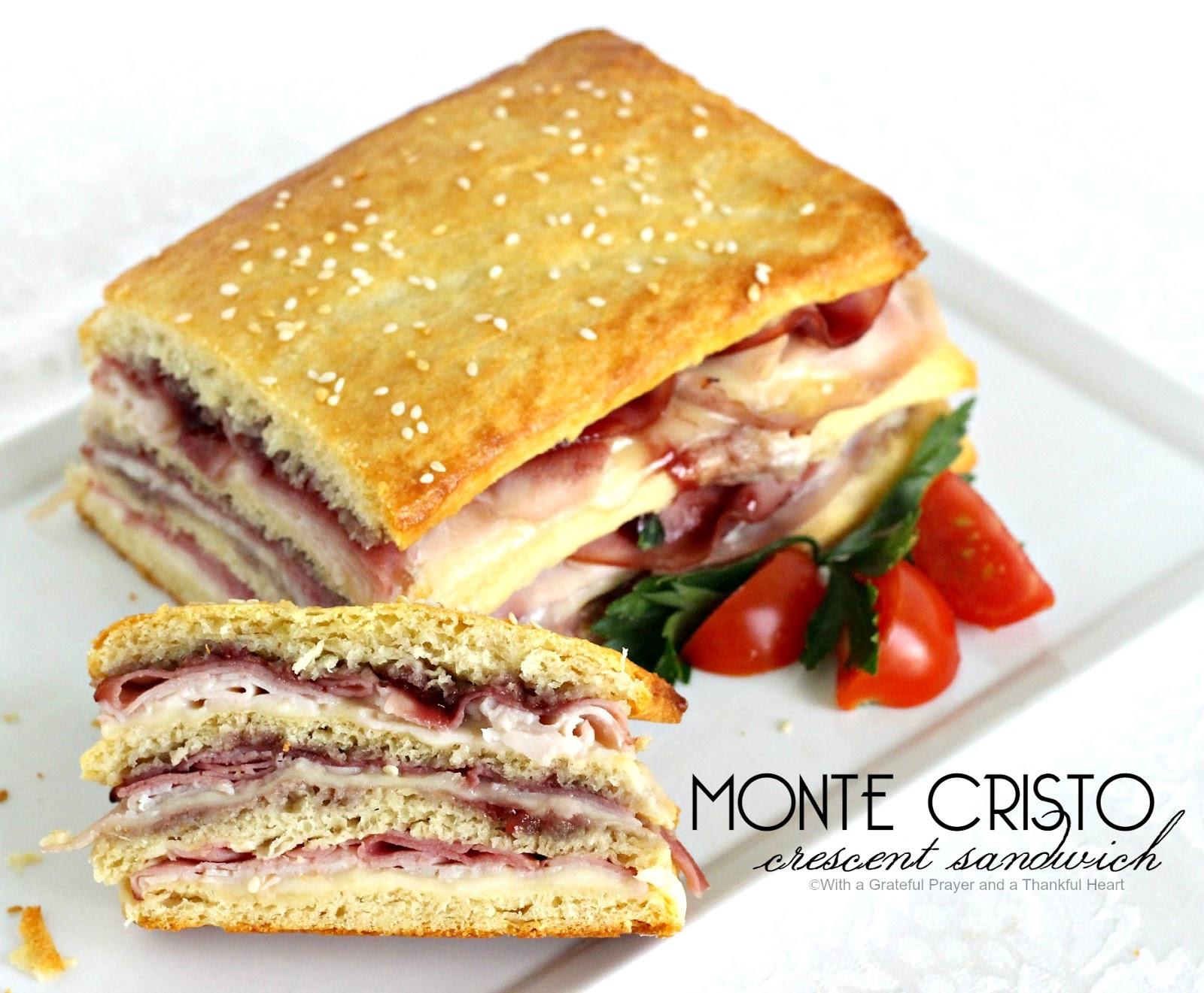 Monte Cristo Crescent Sandwich & Monte Cristo Crescent ...