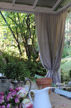 Outdoor Drop Cloth Panels - French Country Cottage