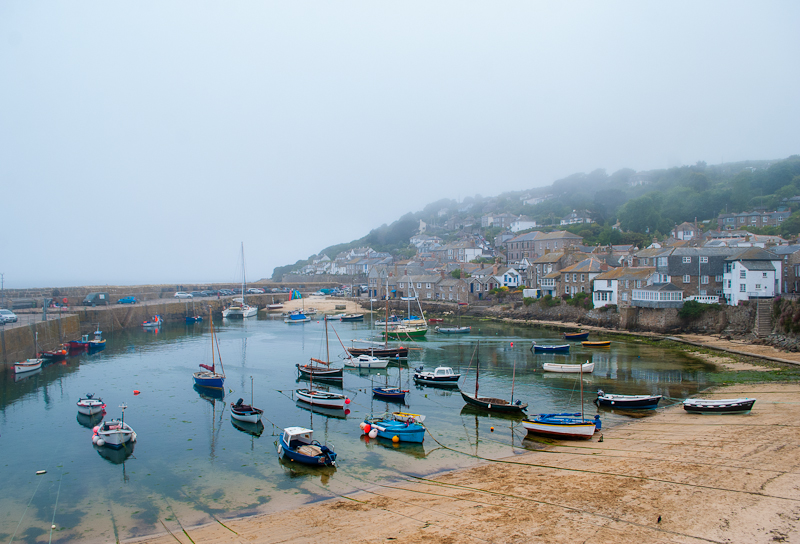 Image of Boats docked at the harbour in mousehole cornwall, england