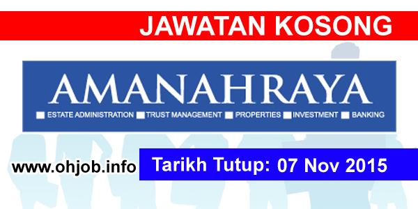 Jawatan Kerja Kosong Amanah Raya Berhad logo www.ohjob.info november 2015