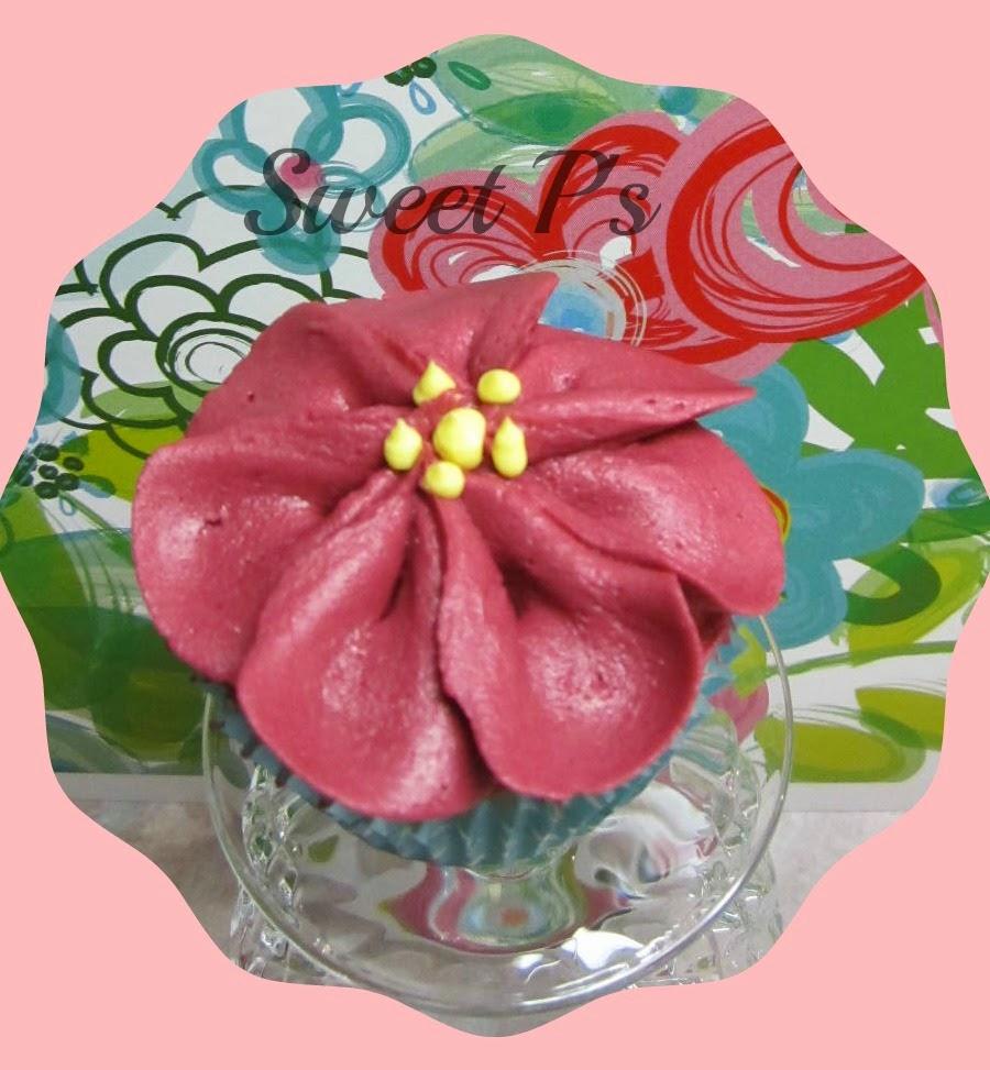 rose petal cupcake