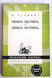 PARA LOS AMANTES DE LOS CLASICOS: Heinrich RICKERT
