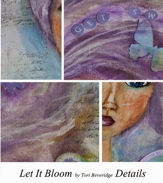 Let It Bloom Art Journal Page by Tori Beveridge Details
