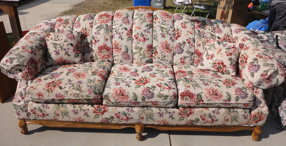 Good Victorian Style Floral Couch   $225