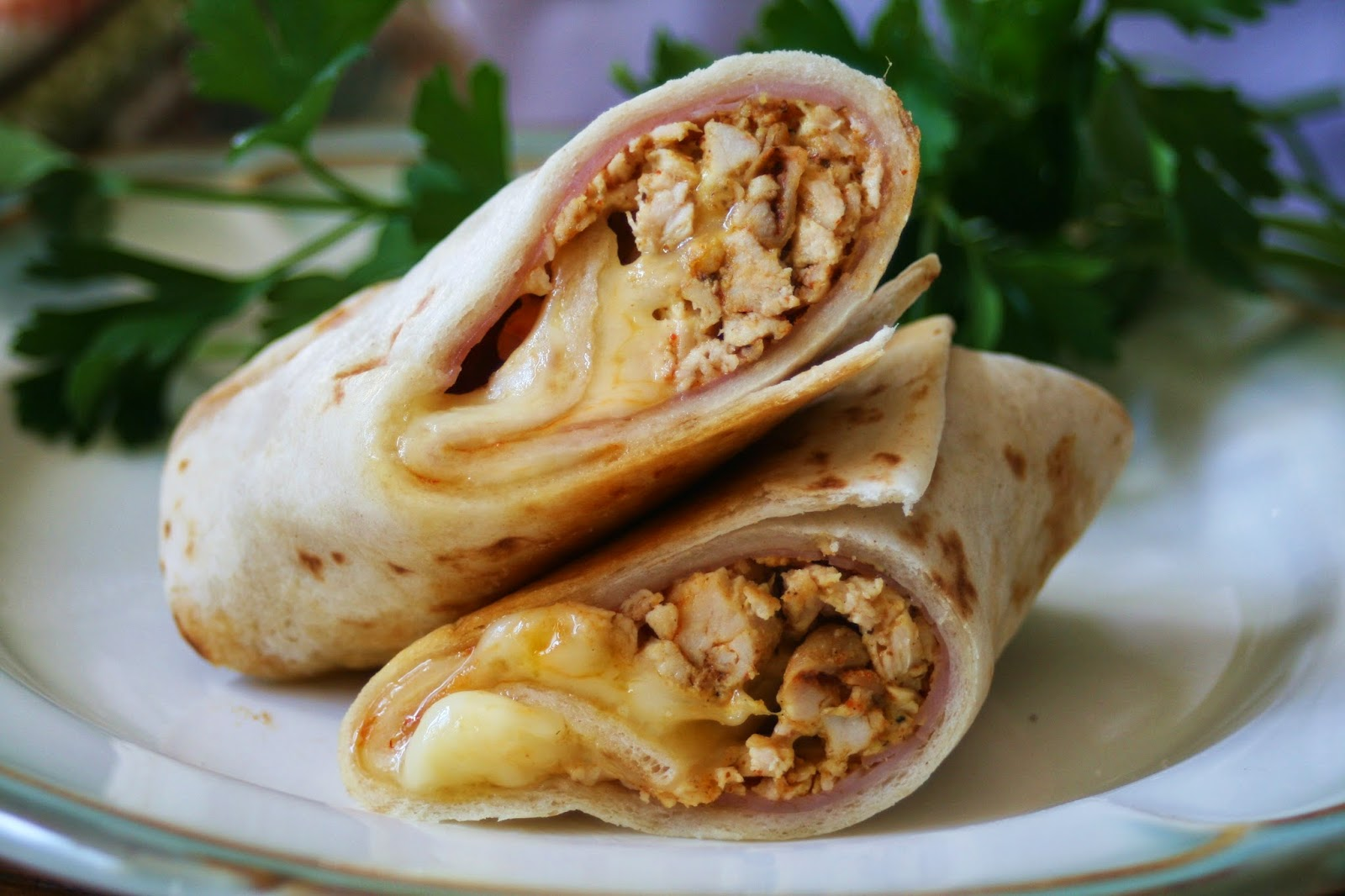 Cajun Chicken Cordon Bleu Wraps by I Thee Cook