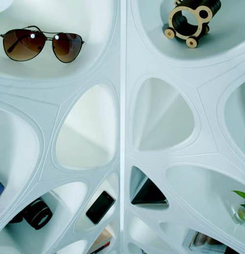 The Organic Twin Shelves by gt2P vertical detail