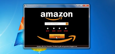 amazon gift card generator home screen