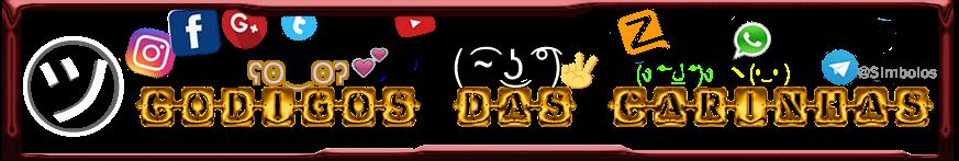 Codigos Das Carinhas ★ Símbolos letras diferentes Emoticons