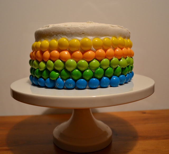 Skittles cake decorating ombre