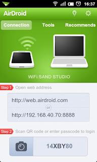 Mengendalikan komputer menggunakan android