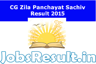 CG Zila Panchayat Sachiv Result 2015