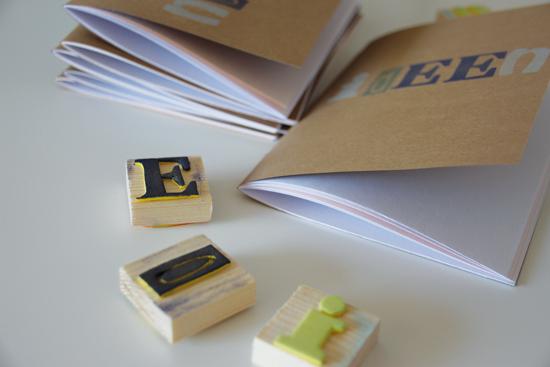 binedoro Blog, DIY, Notizhefte selbstgemacht, bestempeln, bedrucken, Ideen notieren