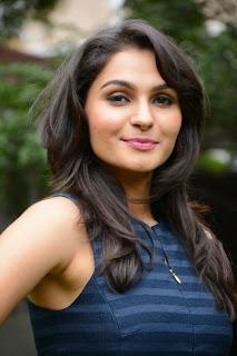 Actress Andrea Jeremiah  Pictures in Short Dress at Valiyavan Press Meet  21