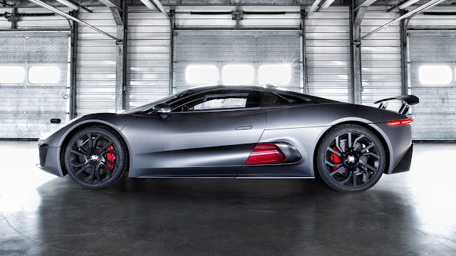 Jaguar C-X75 Hybrid supercar prototype side