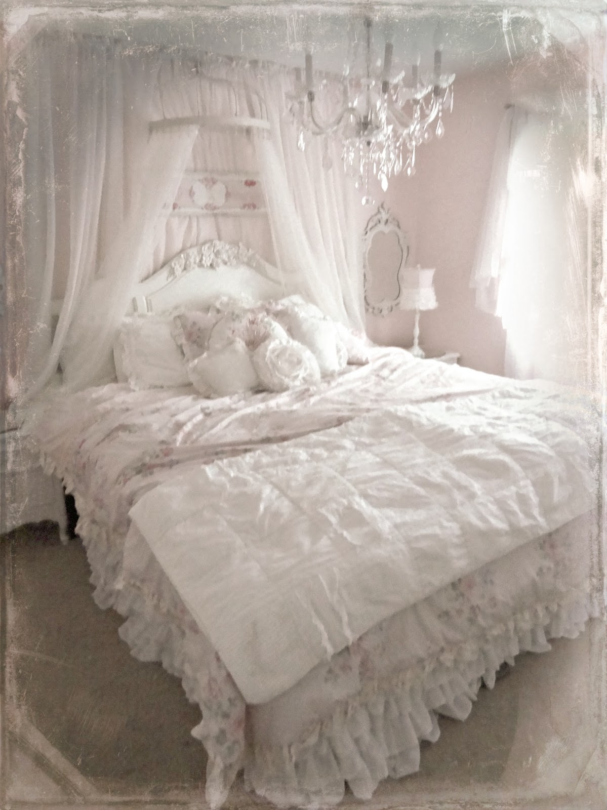 not so shabby shabby chic bed crown pet pictures. Black Bedroom Furniture Sets. Home Design Ideas