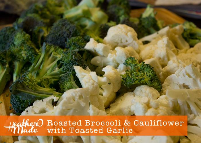 Roasted Broccoli & Cauliflower with Toasted Garlic Recipe