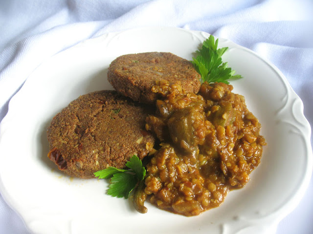 teff patties with okra