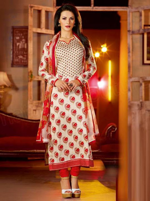 New Arrival Embroidery Neck Cotton Salwar Kameez