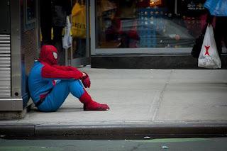 Sad spiderman