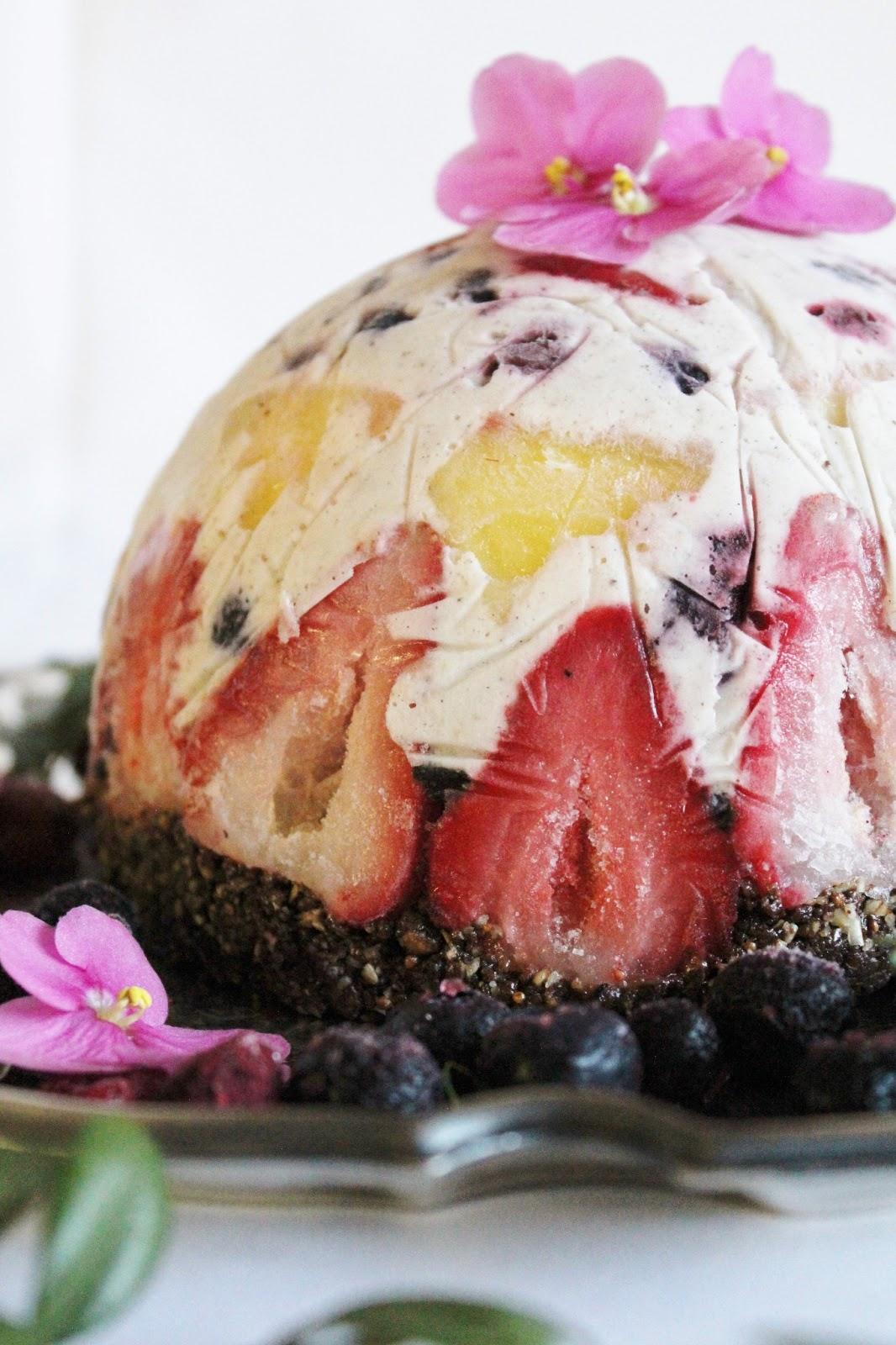 Coconut Milk Ice Cream Cake