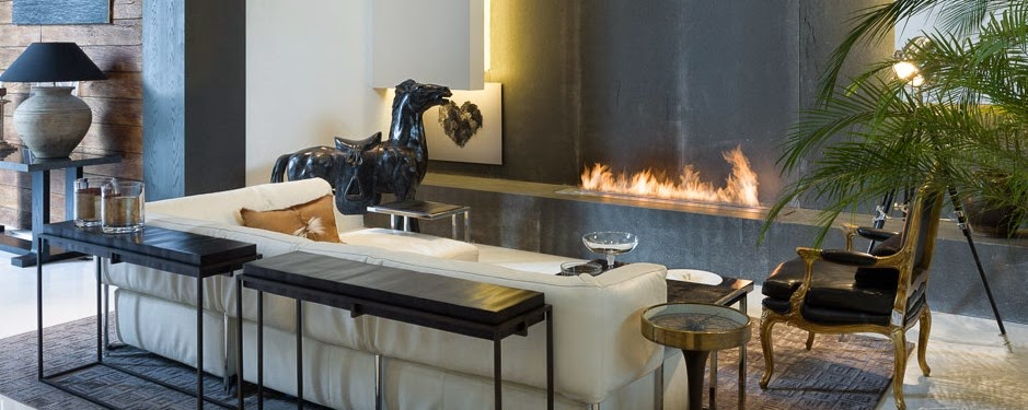 A-FIRE Ventless bio ethanol fireplaces and burners with remote control