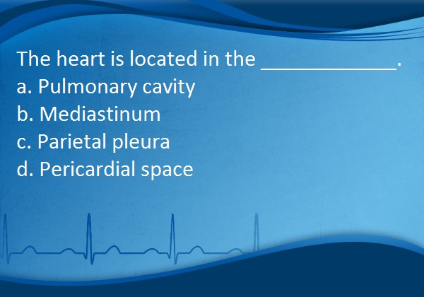 Telemetry Technician Course Cardiac Anatomy Review Questions Class 2