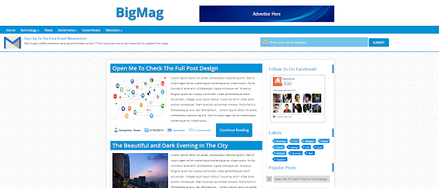 Responsive,SEO Friendly,Blogger Template