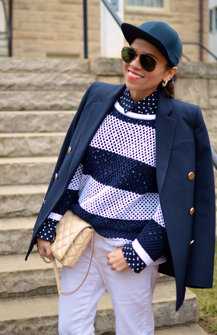 Polka dots and stripes together