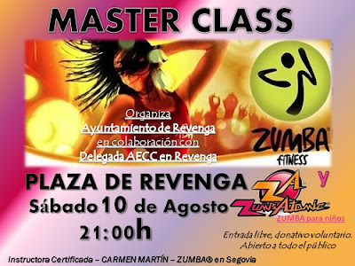 ZUMBA en Segovia. Evento Solidario. Master class en Revenga