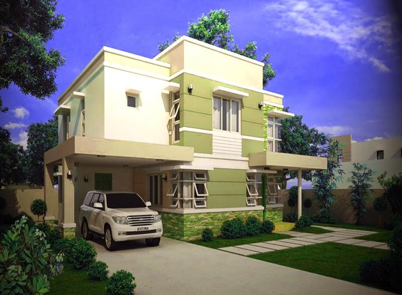 model gambar tampak samping rumah mewah minimalis pinoy
