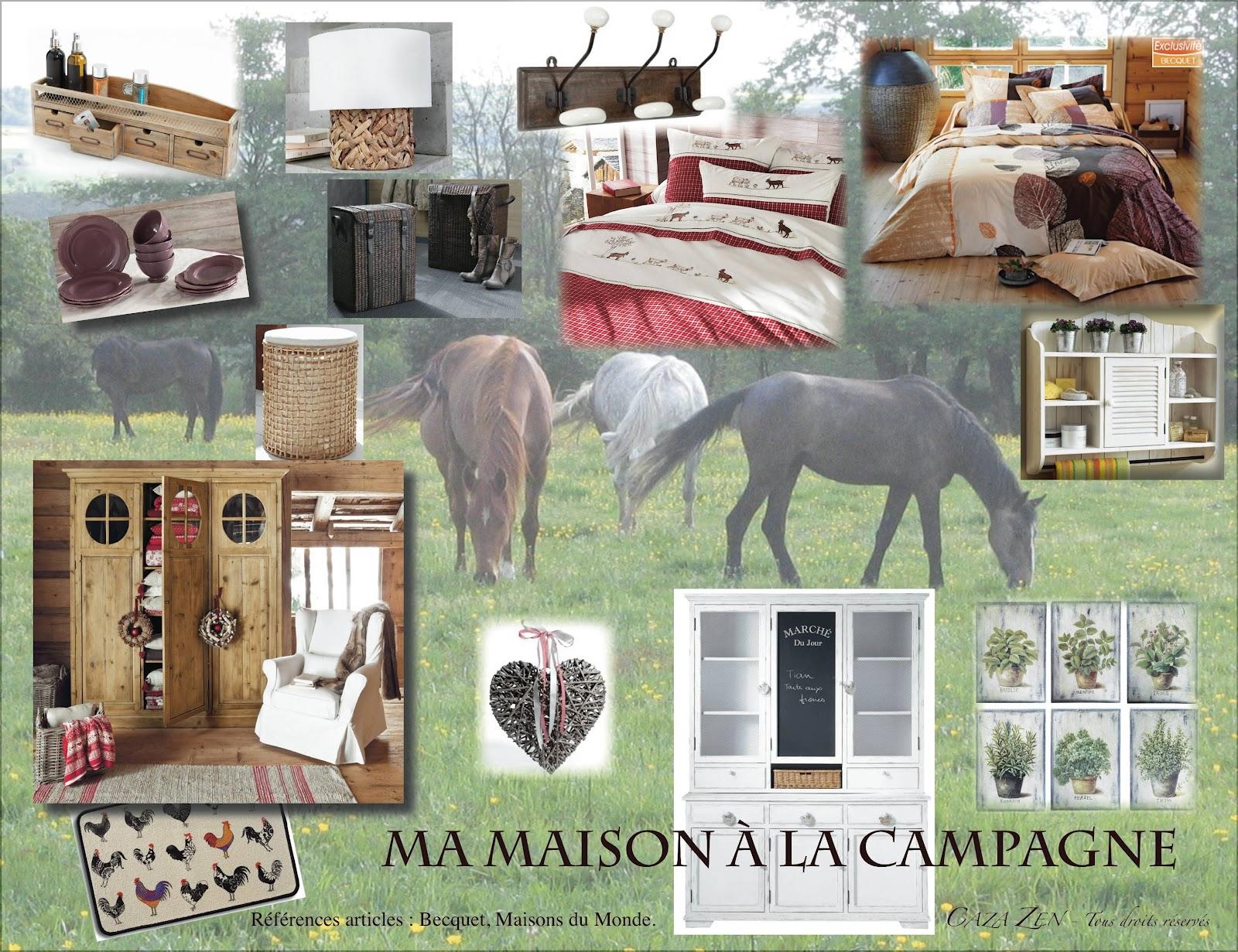 caza zen blog ma maison la campagne. Black Bedroom Furniture Sets. Home Design Ideas
