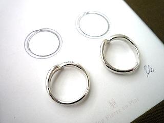 拘りぬいたフルオーダーマリッジリング(結婚指輪)はアシンメトリーになりました。