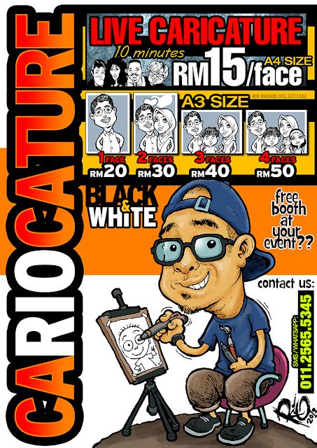 caricature malaysia tempahan karikatur kuala lumpur/selangor
