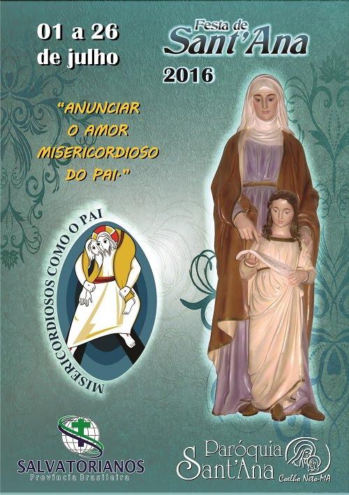 CARTAZ DO FESTEJO DE SANT'ANA 2016