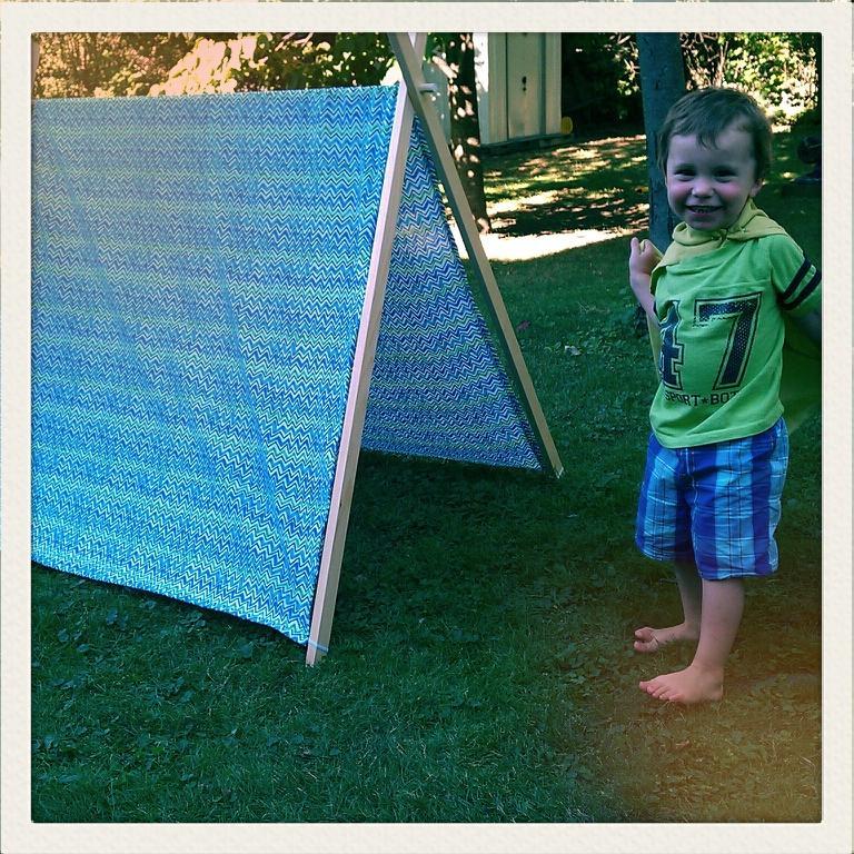 make it dear: project::diy A-frame tent