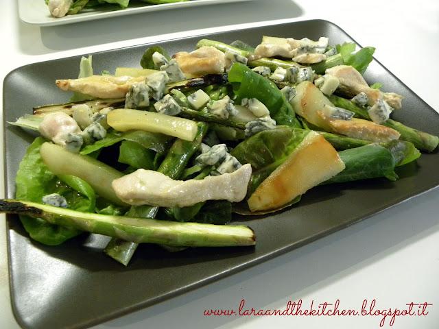 insalata tiepida di pere e asparagi