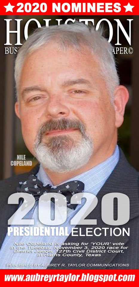 Nile Copeland for Judge, 127th Civil District Court on November 3, 2020 in Harris County, Texas